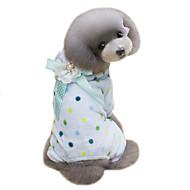 Hunde Mäntel Kapuzenshirts Overall Hundekleidung Winter Gepunktet Niedlich warm halten Beige Blau