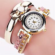 Xu™ Dame Moteklokke Armbåndsur Quartz PU Band Vintage Vedhend Armband Fritid Svart Hvit Blå Rød Rosa