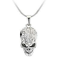 Недорогие $0.99 Модное ювелирное украшение-Ожерелья с подвесками - Череп На заказ, Мода Серебряный Ожерелье Назначение Повседневные