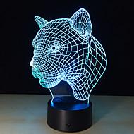 1個2016ヒョウの頭部誘導ランプは、ランプノベルティ製品を主導した知的創造ギフト3D視覚常夜灯