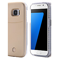 voordelige Hoesjes/covers voor Samsung-terug LED Solide Kleuren PC Hard Light UP LED Selfie Bright Flash Geval voor Samsung Galaxy S7 edge / S7 / S6 edge plus / S6 edge / S6