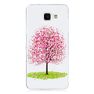 cheap Cases / Covers for Samsung-Case For Samsung Galaxy Glow in the Dark IMD Back Cover Tree Soft TPU for A5(2016) A3(2016)