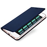 Недорогие Кейсы для iPhone 8 Plus-Кейс для Назначение Apple iPhone X iPhone 8 iPhone 6 iPhone 7 Plus iPhone 7 Бумажник для карт Чехол Сплошной цвет Твердый Кожа PU для