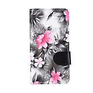 Case Kompatibilitás Samsung Galaxy J7 (2016) J5 (2016) Pénztárca Kártyatartó Állvánnyal Flip Teljes védelem Virág Kemény Műbőr Bőr mert