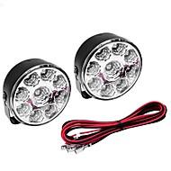 abordables Bombillas LED para Coche-5W Luz 400-450LM blanca Bombilla para el coche Daytime Running Lamps (DC 12V, 1 par) LED
