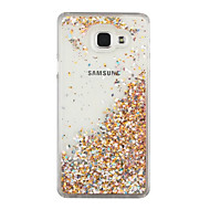 For Flommende væske Etui Bakdeksel Etui Glitter Hard PC for Samsung A7(2016) / A5(2016)