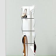 모양 3D 벽 스티커 거울 벽스티커 데코레이티브 월 스티커,비닐 홈 장식 벽 데칼 For 벽