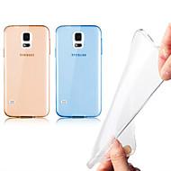 Недорогие Чехлы и кейсы для Galaxy S-Кейс для Назначение SSamsung Galaxy Кейс для  Samsung Galaxy Прозрачный Кейс на заднюю панель Сплошной цвет ТПУ для S5