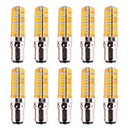 YWXLight® 10Pcs Dimmable BA15D 7W 80 SMD 5730 500-700 LM Warm White / Cool White Corn Bulbs AC 110V / AC 220V