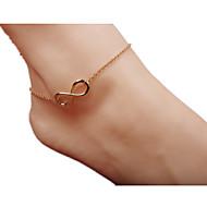 billiga -Dam Ankelkedja / Armband Legering Mode Minimalistisk Stil Europeisk Ankelkedja Oändlighet Smycken Till Dagligen
