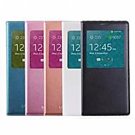 2015 νέα έξυπνη παράθυρο θέα αυτόματη λήθαργο του ύπνου άλλη λειτουργία κάλυψη περίπτωσης δέρματος για το i9600 Samsung Galaxy S5