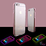 economico Telecomandi a distanza-Custodia Per Apple iPhone 8 iPhone 8 Plus iPhone 6 iPhone 6 Plus Con torcia LED Transparente Per retro Tinta unica Morbido TPU per iPhone