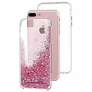 用途 iPhone 8 iPhone 8 Plus iPhone 7 iPhone 7 Plus iPhone 6 ケース カバー リキッド バックカバー ケース キラキラ仕上げ ハード PC のために Apple iPhone 8 Plus iPhone 8 iPhone