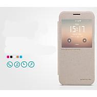 Назначение Кейс для  Samsung Galaxy Чехлы панели с окошком Флип Ультратонкий Чехол Кейс для Сплошной цвет Искусственная кожа для Samsung