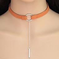 billige -Dame geometrisk Kort halskæde Tatovering Choker Damer Geometrisk Tatovering Europæisk Sølv Orange Gylden Halskæder Smykker Til Afslappet