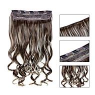 お買い得  -5クリップは、利用可能な女性のより多くの色のためのヘアエクステンションで613分の12人工毛クリップを波状