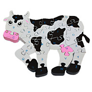 Jigsaw Puzzle Wooden Puzzles Toys Cow Novelty Girls' Boys' 1 Pieces