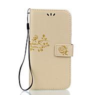 voordelige Mobiele telefoonhoesjes-hoesje Voor LG LG K10 LG K7 LG G5 LG G4 Kaarthouder Portemonnee met standaard Flip Reliëfopdruk Volledig hoesje Bloem Hard PU-nahka voor