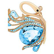 billige -kvinder smykker legering blå brocher 1PS