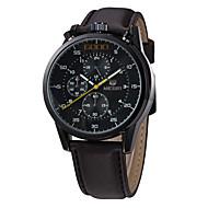 MEGIR Мужской Спортивные часы Армейские часы Нарядные часы Модные часы Наручные часы Календарь Кварцевый Цифровой Натуральная кожа Группа