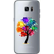 Недорогие Чехлы и кейсы для Galaxy S6 Edge Plus-Кейс для Назначение SSamsung Galaxy S7 edge S7 Ультратонкий Прозрачный С узором Кейс на заднюю панель дерево Мягкий ТПУ для S7 edge S7 S6
