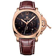 abordables Relojes de Vestir-Hombre Reloj Deportivo Reloj Militar Reloj de Vestir Reloj de Moda Reloj de Pulsera Cuarzo Calendario Cuero Auténtico Banda Vintage Casual