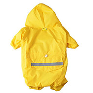 abordables Accesorios Mascota-Perro Impermeable Ropa para Perro A Prueba de Agua Deportes Sólido Amarillo Rojo Azul camuflaje de color Disfraz Para mascotas