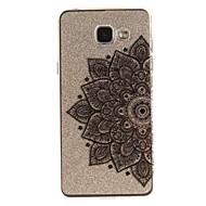 olcso Galaxy A5(2016) tokok-Case Kompatibilitás Samsung Galaxy A5(2016) A3(2016) IMD Átlátszó Minta Fekete tok Virág Puha TPU mert A5(2016) A3(2016) A5 A3