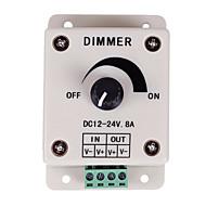 abordables Controladores RGB-controlador de atenuación pwm para luces led o cinta de 12 voltios 8 ampadjustable controlador de dimmer interruptor de luz del brillo dc12v 8a 96w para luz de tira led