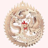 Puzzle Drewniane puzzle Cegiełki DIY Zabawki Znane budynki Chińska architektura Dom 1 Drewno Kryształowy Model / klocki