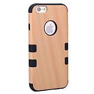 Назначение iPhone 8 iPhone 8 Plus Чехлы панели Защита от удара Защита от пыли Чехол Кейс для Имитация дерева Твердый Дерево для Apple
