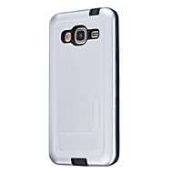 cheap Galaxy J5(2016) Cases / Covers-For Samsung J7 J5 (2016) J5 J3 (2016) Dustproof Case Back Cover Case Solid Color Hard Silicone