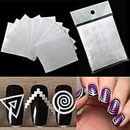 preiswerte -12 Nagel-Kunst-Aufkleber Diecut Maniküre Schablone Make-up kosmetische Nagelkunst Design