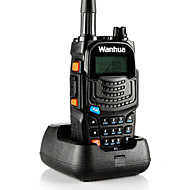 お買い得  -wanhua UV6S トランシーバー ハンドヘルド アナログ 節電モード デュアルバンド LCD 監視 >10KM >10KM 128 8 トランシーバー 双方向ラジオ
