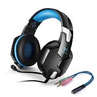 お買い得  -KOTION EACH G1200 オーバーイヤー ヘアバンド ケーブル ヘッドホン 圧電性 プラスチック ゲーム イヤホン ボリュームコントロール付き マイク付き ノイズアイソレーション ヘッドセット