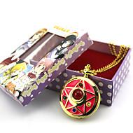 voordelige Cosplay & Kostuums-Klok/Horloge geinspireerd door Sailor Moon Sailor Moon Anime Cosplayaccessoires Klok/Horloge Goud Legering Vrouwelijk