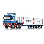 Lekebiler Leker Truck Containertruck Inntrekkbar Trailer Metall Gutt Jente Jul Bursdag Barnas Dag Gave Action & Toy Figures Action Spill