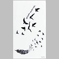 1 Временные тату Non Toxic С рисунком WaterproofЖенский Мужской Подростки Вспышка татуировки Временные татуировки