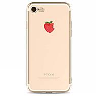Недорогие Кейсы для iPhone 8 Plus-Кейс для Назначение Apple iPhone X iPhone 8 Кейс для iPhone 5 iPhone 6 iPhone 7 С узором Кейс на заднюю панель Фрукты Мягкий ТПУ для