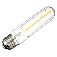 cheap LED Filament Bulbs-1PCS 2W E26/E27 LED Filament Bulbs T10 2 leds COB Decorative Dimmable Warm White 150-200lm 2300-2800K AC 220-240V