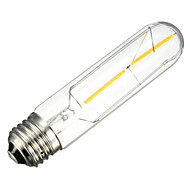 voordelige -1pcs 2w e26 / e27 led gloeilampen t10 2 leds cob decoratief dimbaar warm wit 150-200lm 2300-2800k ac 220-240v