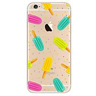 Недорогие Кейсы для iPhone 8-Кейс для Назначение Apple iPhone X iPhone 8 iPhone 6 iPhone 7 Plus iPhone 7 Ультратонкий С узором Кейс на заднюю панель Продукты питания
