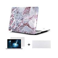 """caja de cuerpo completo dura diseño de mármol con la cubierta de teclado y protector de pantalla para el MacBook Pro de 13 """"/ 15"""""""