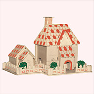 Jigsaw Puzzles Wooden Puzzles Building Blocks DIY Toys  Sun House 1 Wood Ivory Model & Building Toy