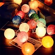 2.5m 20leds rattan labdát húr tündér fények esküvői dekoráció party forró használat színpompás tündér fény kerti dekoráció