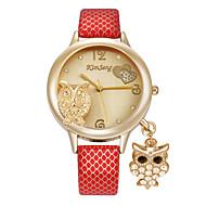 tanie Modne zegarki-Damskie Modny Zegarek na nadgarstek Sztuczny Diamant Zegarek Kwarcowy sztuczna Diament Stop PasmoKreskówka Heart Shape Sowa Na co dzień