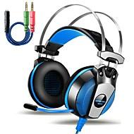 お買い得  -KOTION EACH GS500 オーバーイヤー ヘアバンド ケーブル ヘッドホン 圧電性 プラスチック ゲーム イヤホン ボリュームコントロール付き マイク付き ノイズアイソレーション ヘッドセット