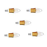 6W E14 LED-kaarslampen C35 45 leds SMD 2835 Decoratief Warm wit 650lm 2700-3500K AC 220-240V