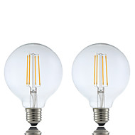 cheap LED Filament Bulbs-GMY® 2pcs 6W 600 lm E26/E27 LED Filament Bulbs G95 4 leds COB Dimmable Warm White AC 220-240 V