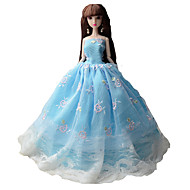 abordables -Corte Princesa Vestidos por Muñeca Barbie  Vestidos por Chica de muñeca de juguete